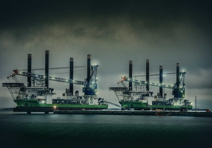 The giants connect to onshore power